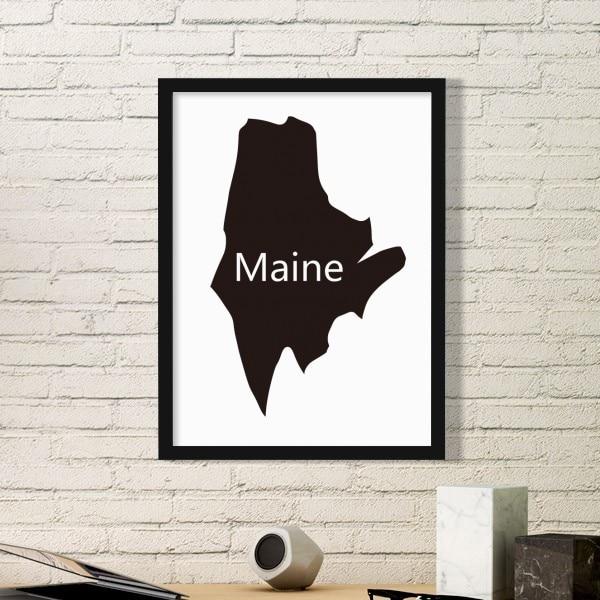 Aliexpress.com : Buy Vermont Utah United States America USA Map ...