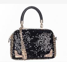 MIWIND 2017 Europe classic One shoulder The new small leopard Fashion Shoulder Bag Handbag Satchel sequins 113