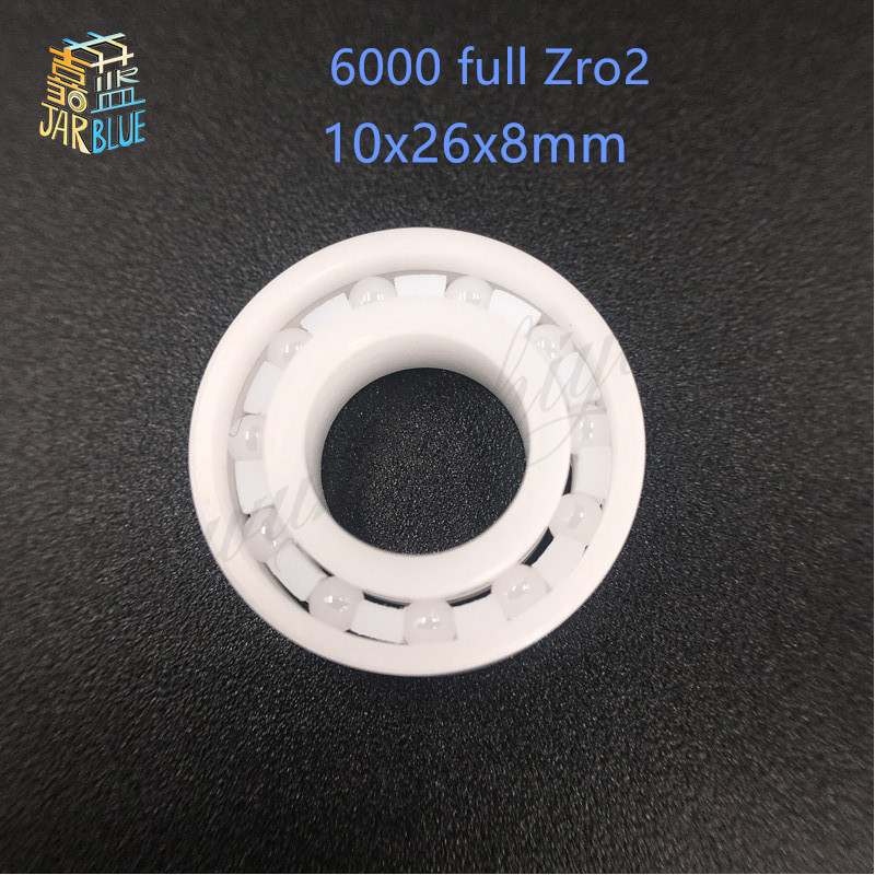 Free shipping 6000 full ZrO2 ceramic deep groove ball bearing 10x26x8mm P5 ABEC5 free shipping 605 full zro2 ceramic deep groove ball bearing 5x14x5mm good quality p5 abec5
