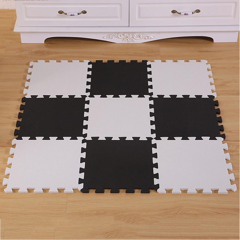 Black And White Foam Play Mat Tyresc - Black and white interlocking floor mats