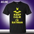 I Am Batman Tshirts Short Sleeve Personality Top Tees T-shirts  Fashion Funny Cartoon Batman T Shirts Men Keep Calm