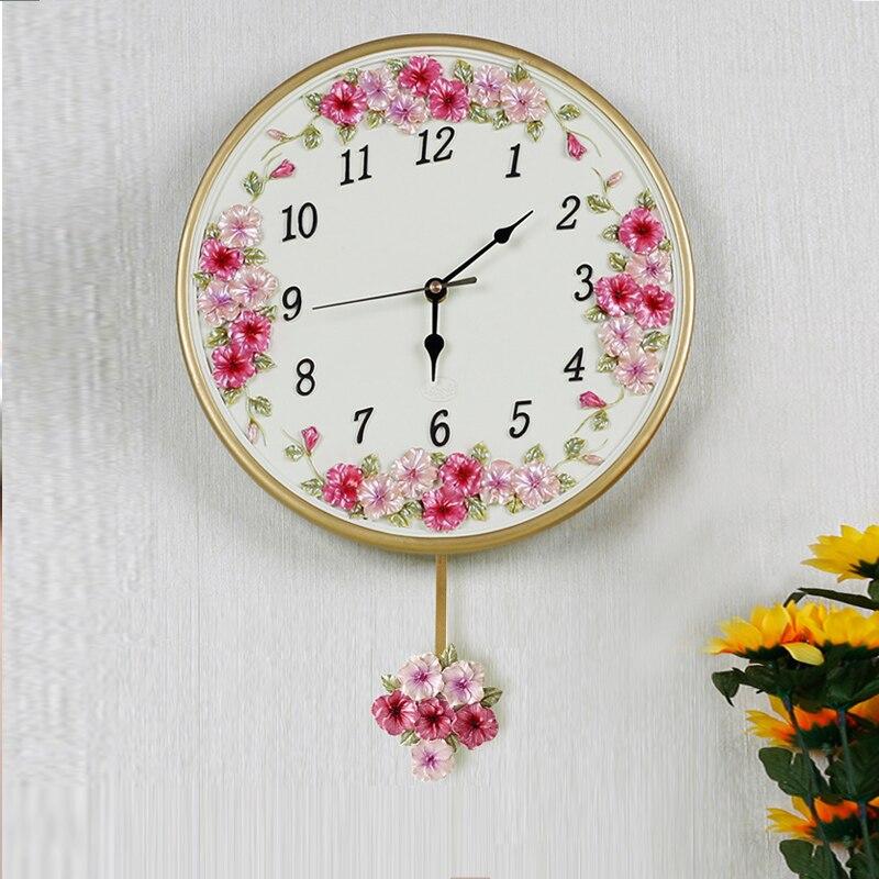 Décoration horloge montres Décoration Art quartz Bon art mur de la personnalité créative swing pensée salon