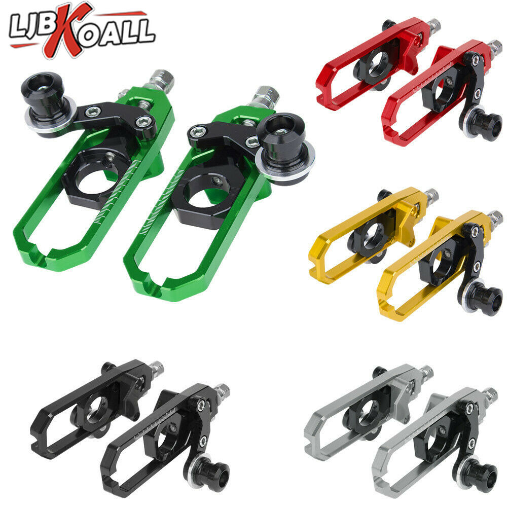 Motorcycle Chain Adjusters Tensioner Catena w//Spool For Kawasaki Ninja ZX10R 2008-2010 Red