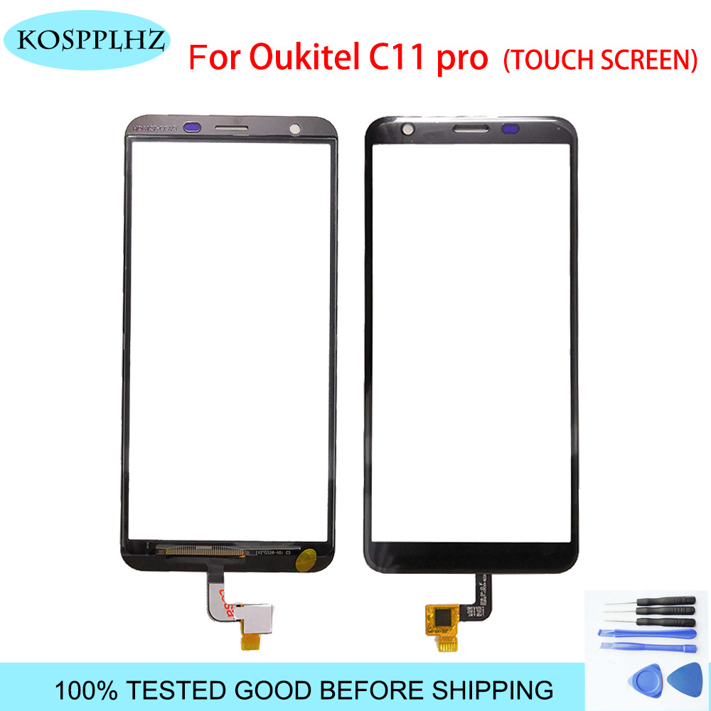 KOSPPLHZ For <font><b>Oukitel</b></font> C11 Pro Touch Screen 5.45'' Touch Panel Digitizer Front Glass c11 <font><b>c11pro</b></font> Touch Panel Sensor With Tools image