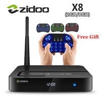 ZIDOO X8 Realtek RTD1295 Android 6.0 OpenWRT (NAS) TV BOX 2 GB/8 GB AC WIFI 1000 M LAN USB3.0 HDMI2.0 HDR Bluetooth 4.0 Reproductor de Medios