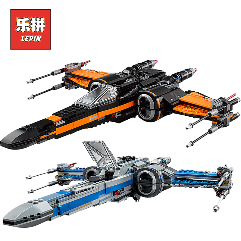 Lepin Starwars 05004 05145 05029 X Wing Star Tie Fighter Building Blocks Compatible Legoinglys Star Plan Wars Children Toy 75149 oleku hotsale star wars resistance x wing tie advanced prototype micro fighter starwars the wookiee gunboat building blocks toys