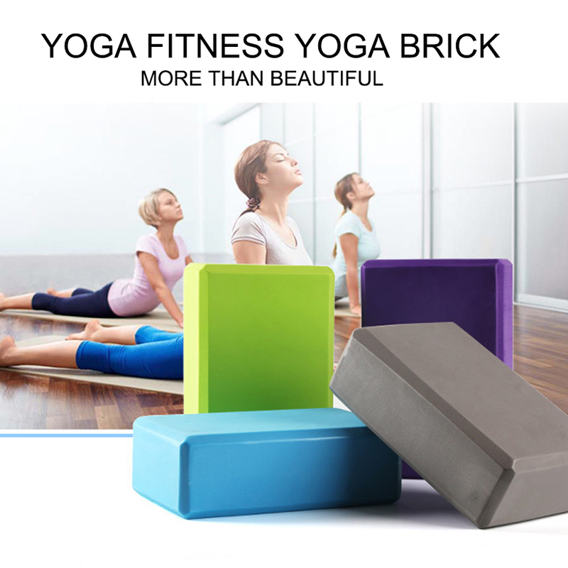 2 Pcs EVA Yoga Block Foam Foaming Block Brick Exercises Fitness Tool Workout Stretching Aid Body Shaping Health Training