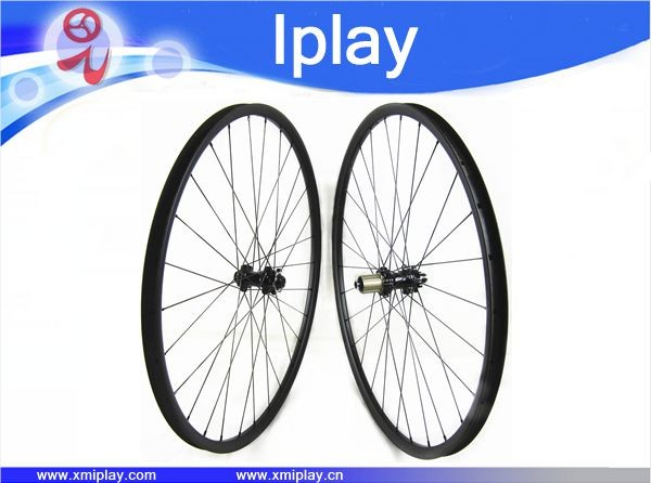 2017 Promotion carbon wheels 27mm hookless assymetric 29 inch carbon bicycle wheels full carbon fiber mtb bike wheels 28/28h light bicycle roda mtb 29 carbon rear wheels