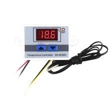 Controlador de temperatura Digital LED, interruptor de Control de termostato, cable de sonda impermeable, conectar Sensor de temperatura de alta sensibilidad