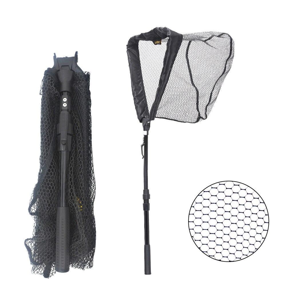 95cm 160cm 210cm Folding Fishing Nets Landing Net 2 Section Telescopic Aluminum Handle F ...