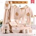 Новый детская одежда хлопок летом Новорожденного Подарочный Набор 0-3 месяц полнолуние новорожденный продукты хлопка одежды