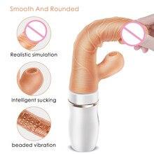 Grand gode gode vibrateur chauffant pour femmes, baguette magique, massage du corps, massage, jouet sexuel, stimule le Clitoris