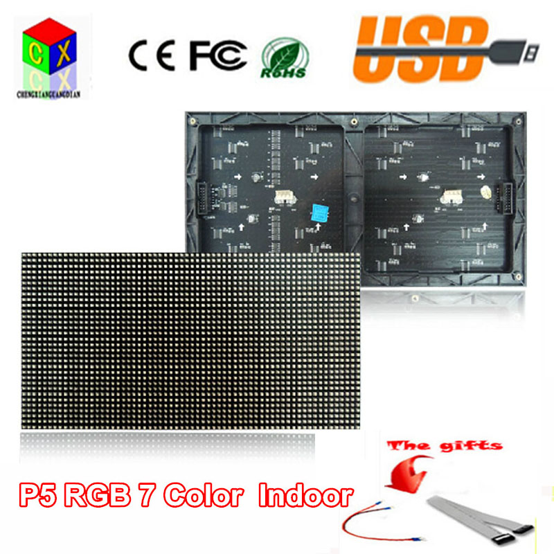 P5 Rgb  Indoor Full-color Module 1/16 Scan 320*160mm 64*32pixels