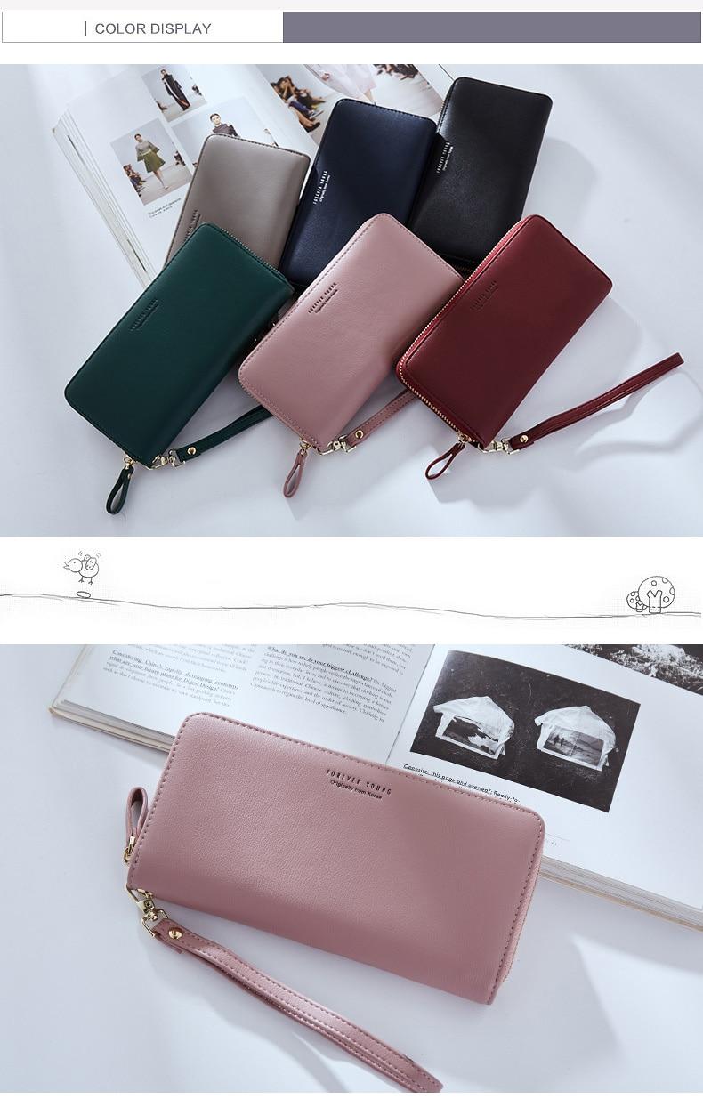 Women Long Clutch Wallet Large Capacity Wallets Female Purse Lady Purses Phone Pocket Card Holder Carteras 22