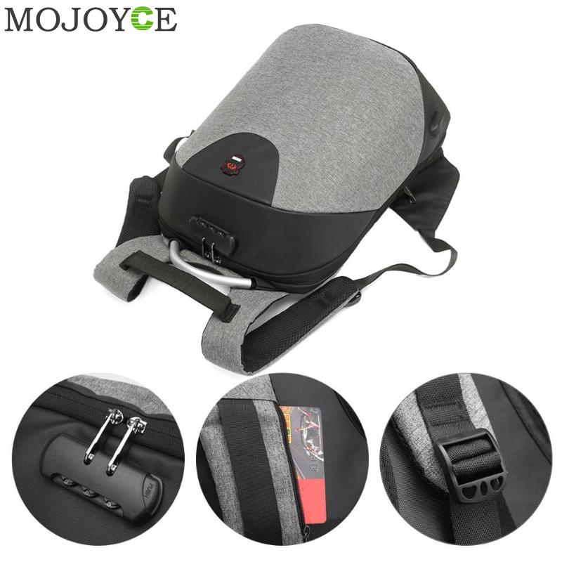 15.6 Inch Laptop Anti-theft Men Backpack With Usb Charging Headphone Interface Port Lock Business Waterproof For Work Women #2