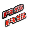 1 PCS 3D Red RS Racing Sport Original grille Emblem Badge Refitting Decoration Car Stickers for New FIT CIVIC Car Styling