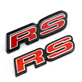 1 PCS 3D Red RS grille Emblem Corrida Esporte Originais emblema Decoração Adesivos de Carro para New FIT CIVIC Carro Remontagem Styling