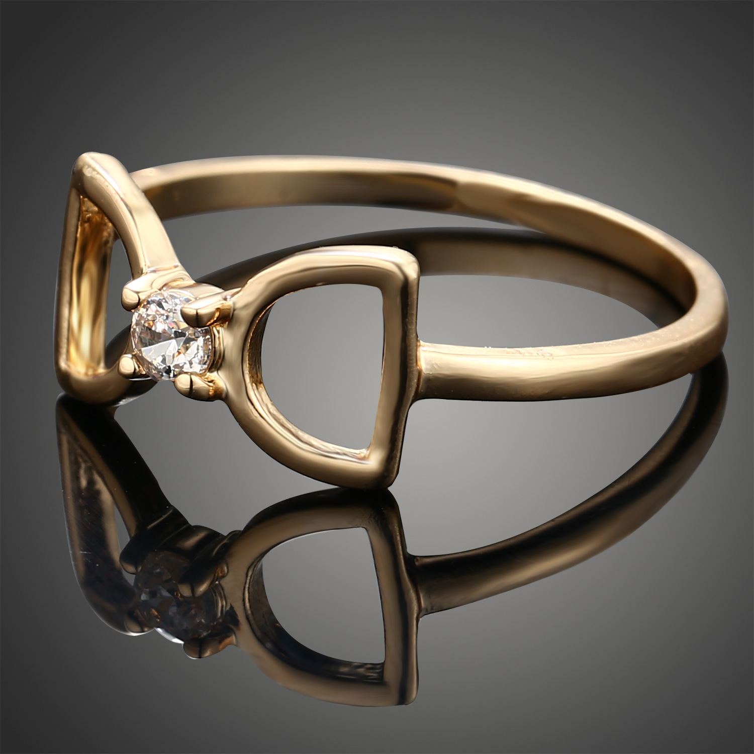 products drop diamond band ring cut korean rings double tia open cz korea gold