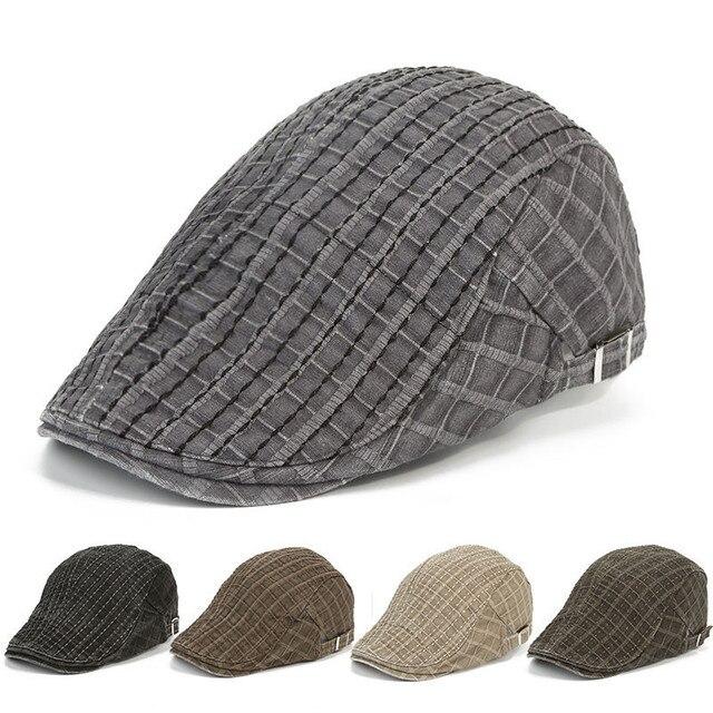 5729bc60631 New Unisex Caps Women Men Summer Outing Sport Beret Hat Traveling Snapback  Advance Hats Patchwork Plaid