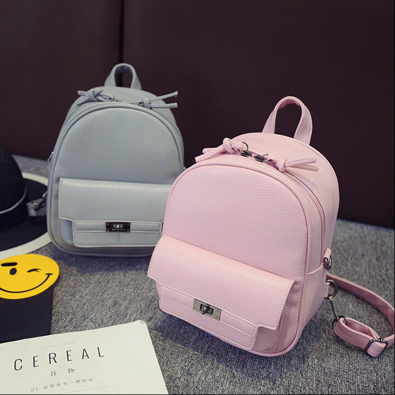 COOL WALKER Women Backpack For Teens Girls Preppy Style Solid fashion Girls School Bags for Girls PU Leather Women Backpack цена 2016