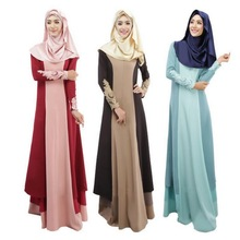 Women Muslim Dress Arab Malays Costumes Lace Long Sleeves Abayas Dubai Islamic Turkish Ladies Clothing