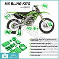 04 05 06 07 Green Aluminium Alloy CNC New MX Motocross Bling Kits Kit for Kawasaki KX-F KXF 250 KX250F 2004 2005 2006 2007