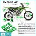 04 05 06 07 Verde Aleación De Aluminio CNC Nuevo MX Motocross Bling KX-F Kits Kit para Kawasaki KX250F KXF 250 2004 2005 2006 2007