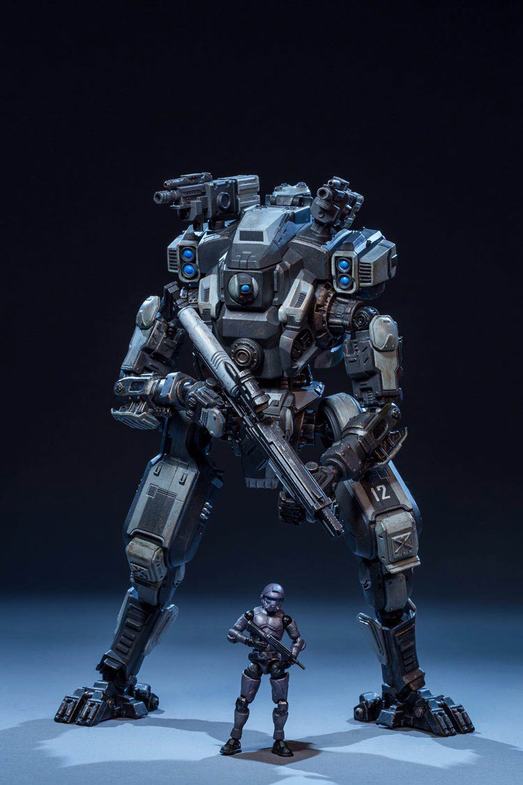 Figures anime Robot soldiers movable mecha military robot action figure JOY TOY 1 27 the 3rd