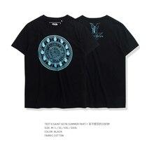 TEE7 Camiseta clásica de anime para hombre, camisetas de Saint Seiya con reloj de fuego, camiseta de verano de talla grande negra de alta calidad
