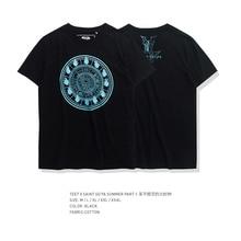 Мужская футболка TEE7, Классическая футболка золотого цвета в стиле аниме Saint Seiya Fire clock, черная летняя футболка большого размера для мальчиков и девочек