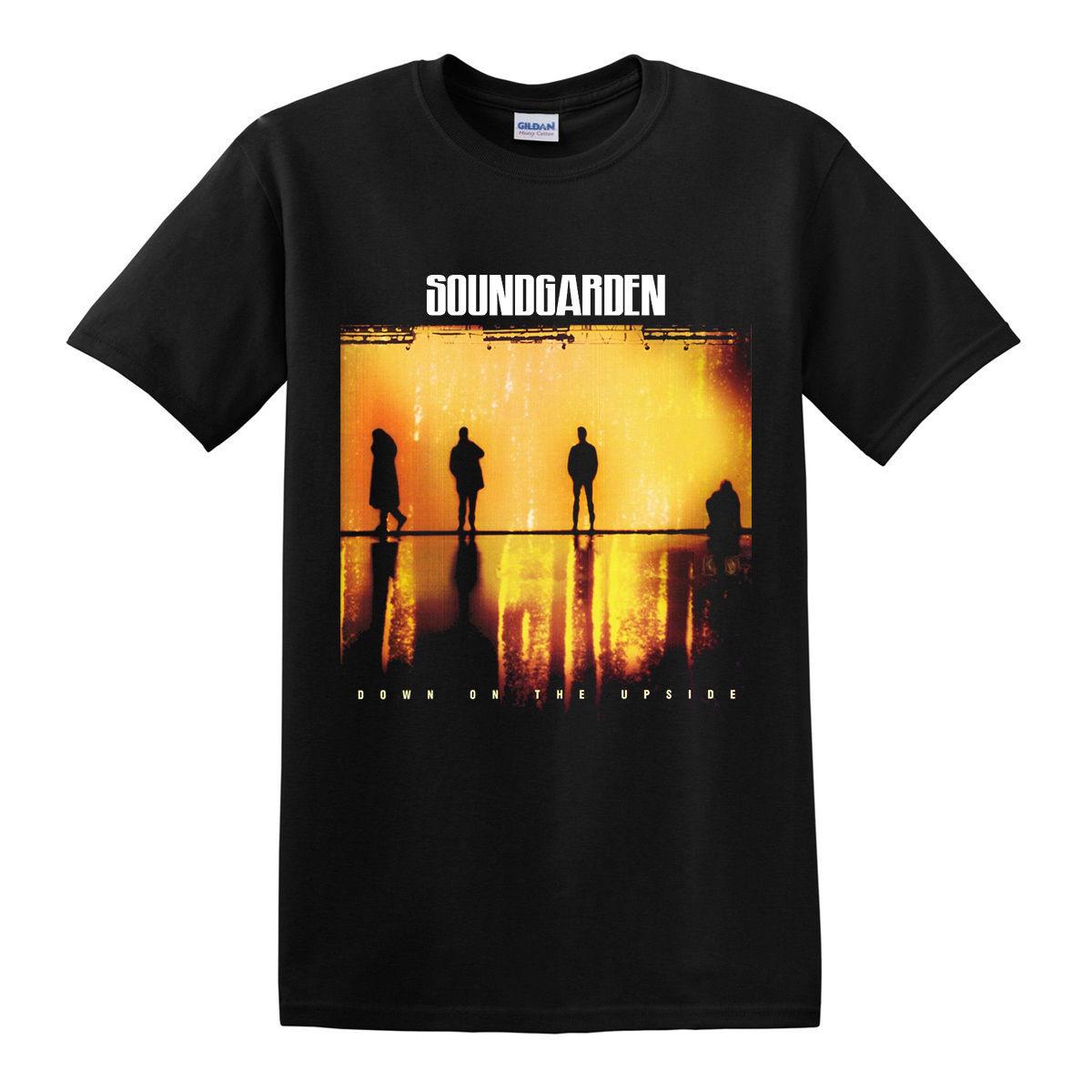 Black t shirt grunge - Aliexpress Com Buy Soundgarden Down On The Upside 1996 T Shirt Grunge Alternative Rock Black Design Short Sleeve T Shirt Top Tees From Reliable Short