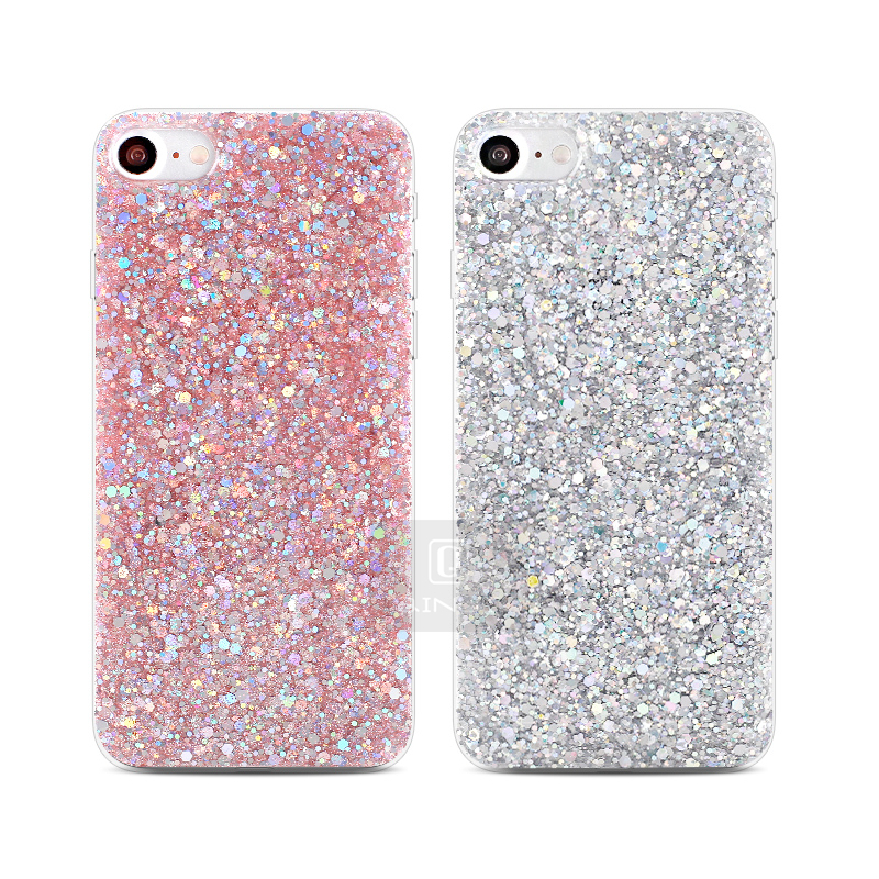 HTB1O7GwaovrK1RjSspcq6zzSXXan - Gurioo Silicone Bling Glitter Crystal Sequins Hard shell Phone Case For iPhone 11 5 SE 6 6S 7 8 X Plus XR XS Max Protective Case