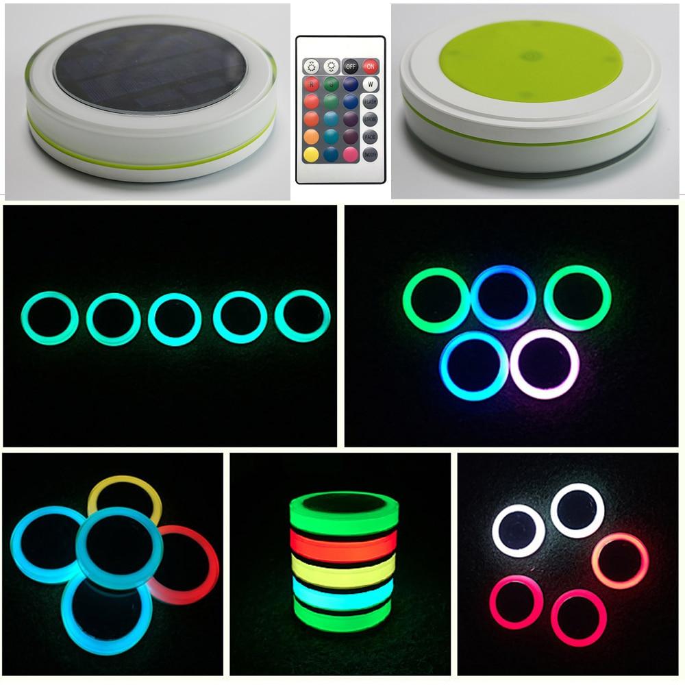 IP68 Étanche RGB LED Piscine Lumière Solaire lampe Parti Bar Décoration Avec 24 Clé Télécommande Paysage Éclairage
