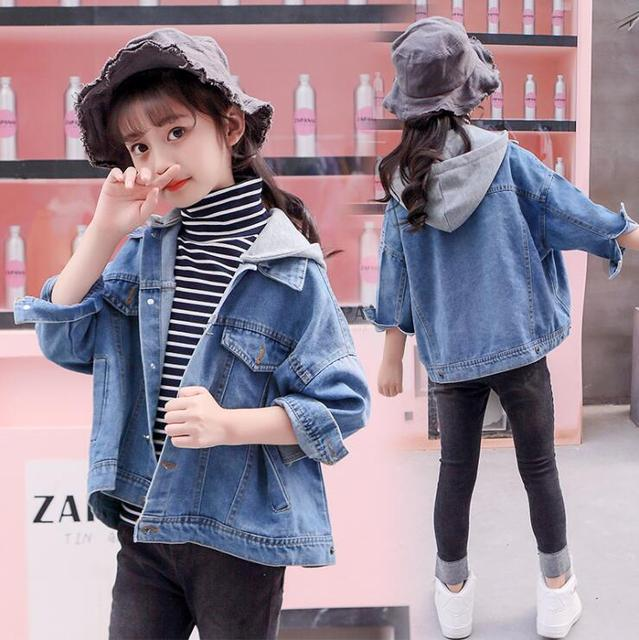 266b4d6ad974 Children s Clothing Girls Outerwear Coats Jeans Jacket 2018 Autumn New Girl  Top Clothes Streetwear Outfit Fashion Jacket WT03
