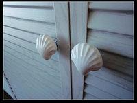 Large Drawer Knobs Shell White Ceramic Nautical Kitchen Furniture Cabinet Drawer Pulls Handles Hardware Porcelain