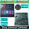 PH7.62 SMD 3 em 1 módulos de LED RGB, Interior cheio de cor LEVOU módulo de tela 32*32 Pixels, 244*244mm, parede de vídeo Full color módulo unidade