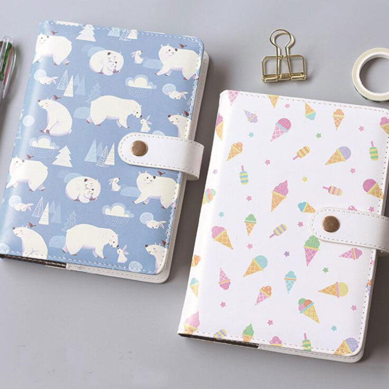 Cute Polar bear Leather Notebook A5 Planner Organizer Agenda Week Planner Note Book Daily Planner  Office & school Supplies rights of the game notebook gift diary note book agenda planner material escolar caderno office stationery supplies gt105