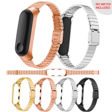 For Xiaomi Mi Band 3 Replacement Stainless Steel Wrist Band Strap Wristband Stainless steel wrist strap for xiaomi mi band 3 replacement ventilate sport soft wrist strap wristband for xiaomi mi band 3 wearable devices smartwatch relogios