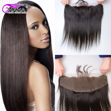 Grade 7A Front Lace Closure With Baby Hair Unprocessed Brazilian Straight Virgin Human Hair Frontal Closure Ear to Ear Closure