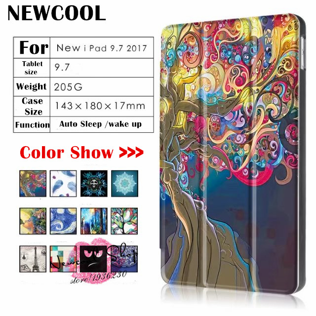 Case For NEW iPad 9.7 2018 a1893 , Smart Flip cover PU Leather Case For Apple NEW iPad 9.7 2017 Tablet case A1822