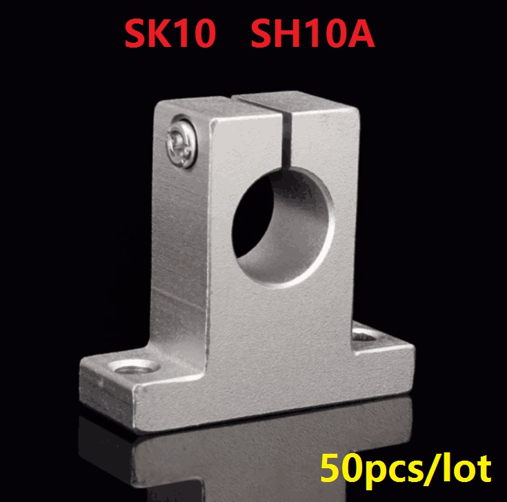 50pcs/lot SK10 SH10A 10mm linear bearing rail linear shaft support rail for CNC 3d printer parts