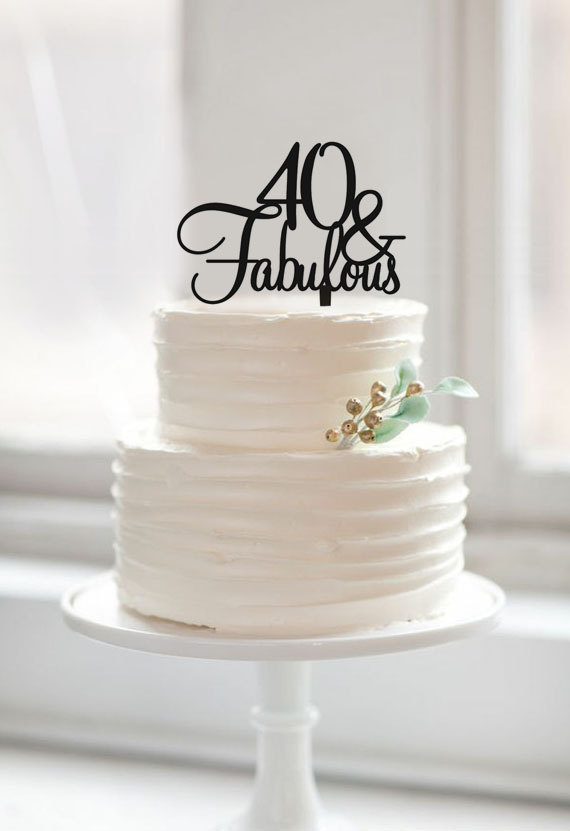 40 Amp Fabulous Birthday Cake Topper Custom Color Cake