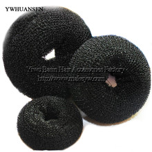 YWHUANSEN Free shipping 5pcs/lot Foaming Ball Shape Hair Band Good Donut meatball head bud Sponge hair band Fashion Bun Clip(China)