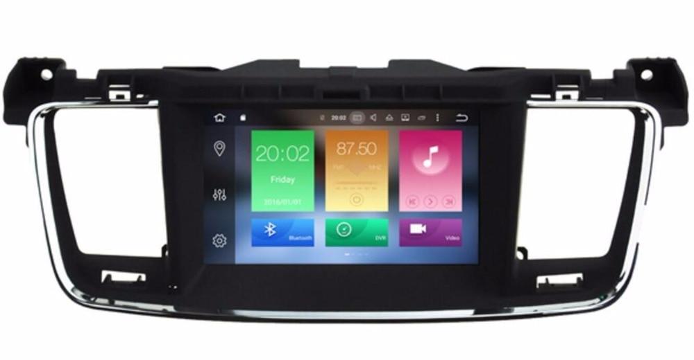 Mise à jour 4 gb RAM 32 gb ROM! Octa-core Android 8.0 Voiture DVD GPS pour Peugeot 508 Citroen DS5 avec Radio BT Miroir lien WiFi 3g DVR