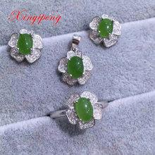 925 silver chrysoprase  marrow rings earrings pendants jewelry suit female wedding jewelry