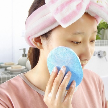 1 Pcs Professional Facial Deep Cleansing Sponge Smooth Sponge Cosmetic Puff Face Care Wash Beauty 4 Colors