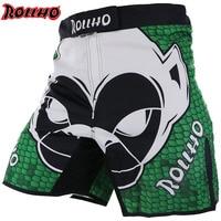 MMA Shorts Men's Muay Thai Boxing Shorts Printing Fitness Fight Grappling Short Kick Gel Thai Boxing Shorts Boxing
