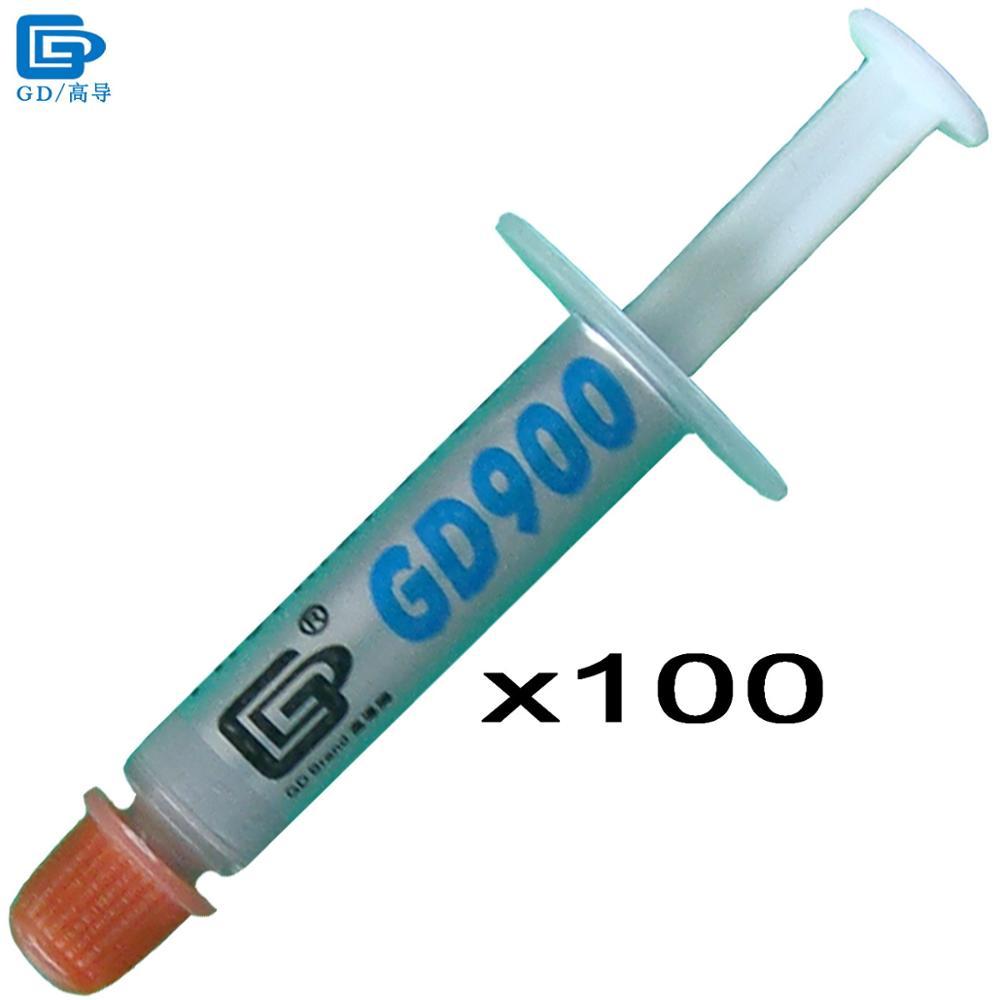 Prix pour GD900 Thermique Pâte de Graisse Silicone Plâtre Dissipateur de Chaleur Composé 100 pièces Haute Performance Net Poids 1 Gramme Pour CPU Cooler SSY1