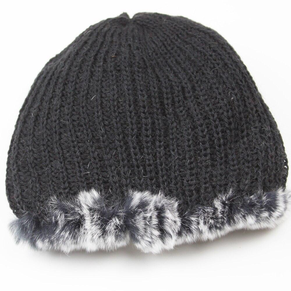 St.Susana 2018 Women Winter Warm Fur Hat Fashion Female Rea Rex Rabbit Fur Hat Winter Windproof Warm Fur Hat Item MT 009