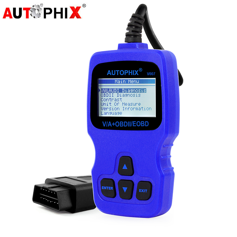 OBD2 Automotive Scanner OBD Diagnostic Tool For VW/AUDI/SEAT/VAG All System OBDII EOBD Engine System V007 Car Auto Scanner Tools 2016 new arrival vs 890 obd2 car scanner scantool obdii code reader tester diagnostic tools 3 inch lcd car detector